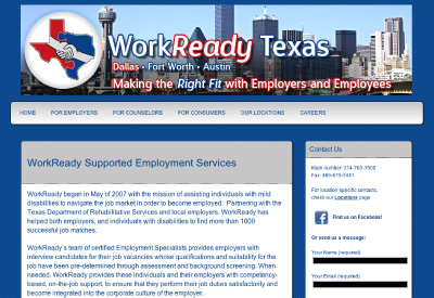 Employment assistance firm WorkReady Texas