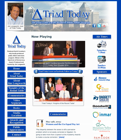 Triad Today, Local affairs TV show for Winston-Salem, NC