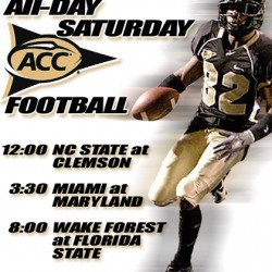 ACC football website splash ad