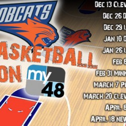 Charlotte Bobcats schedule website splash ad
