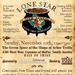 Lone Star Veggie Chili Championship poster