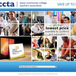 Selector landing page for Texas Community College Teachers' Association
